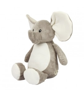 Peluche éléphant brodée