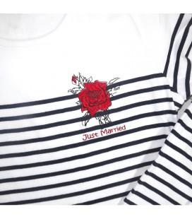 Tee shirt Marinière Rose