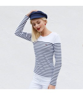 Tee shirt marinière femme personnalisé