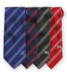 Cravate rayures personnalisée