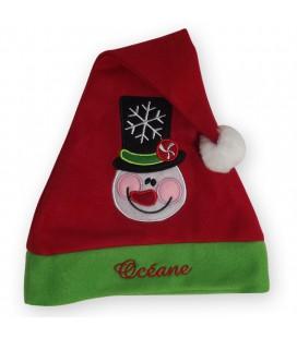 Bonnet lutin bonhomme de neige