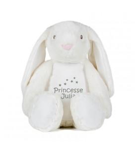 Peluche Lapin range pyjama personnalisée