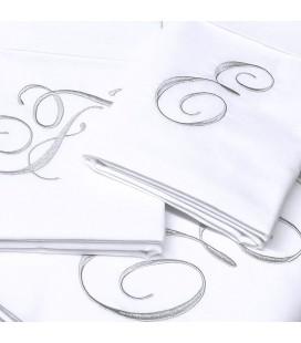 Parure de lit initiales brodées