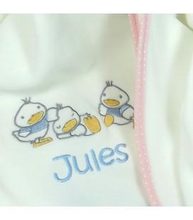Plaid bébé petit canard personnalisé