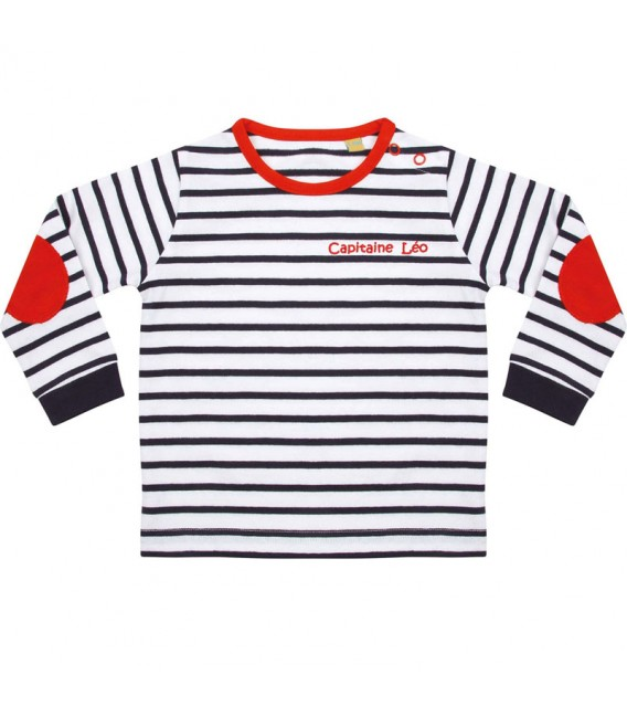 Tee-shirt rayé enfant prénom