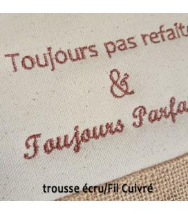 Trousse coton et jute personnalisé écru