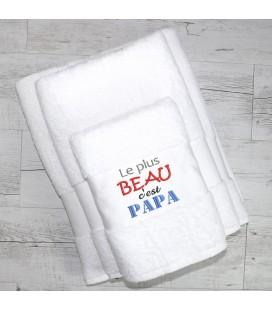 Serviette de bain papa personnalisée fête des pères