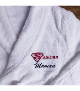 Peignoir femme sublime maman personnalisé fête des mères