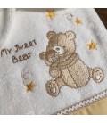 Ensemble de bain serviette et gant Ourson personnalisé au prénom de bébé