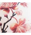 Coussin Fleursde cerisier toile aspect lin 40x40cm