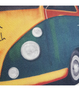 Coussin Van vintage  toile aspect lin 40x40cm
