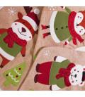Botte de Noël Beige Personnalisée