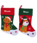 Botte de Noël chat et chien Personnalisée