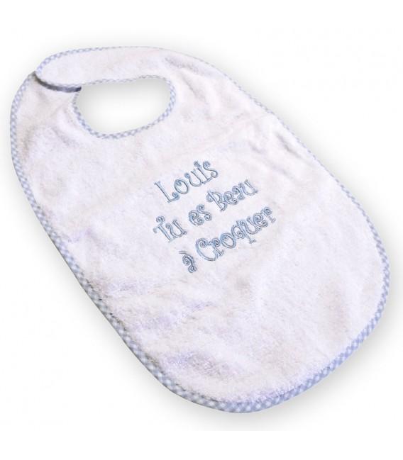 cape de bain bébé éponge à croquer personnalisé