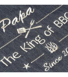 Tablier barbecue en jean
