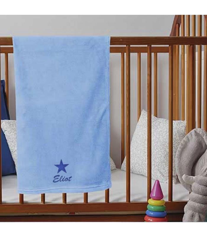 plaid doux personnalis pr nom cadeau naissance b b. Black Bedroom Furniture Sets. Home Design Ideas
