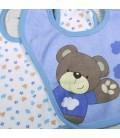 lot de 2 bavoirs petit ours avec prénom