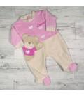 Pyjama bébé petit ours brodé prénom