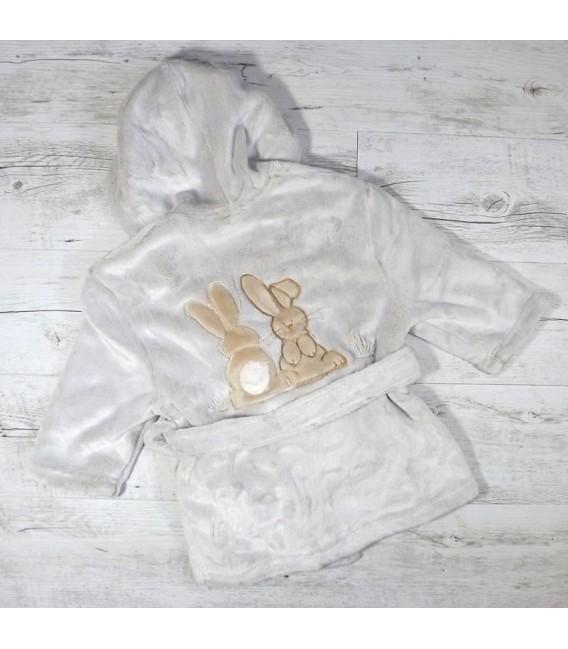 Robe de chambre lapins personnalisée