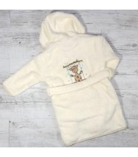 Peignoir enfant girafe prénom