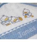 Cape de bain bébé petit canard personnalisée
